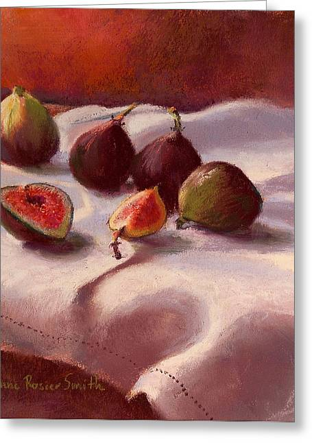 Morning Figs Greeting Card by Jeanne Rosier Smith
