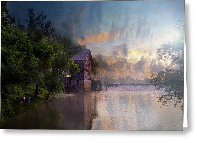 Greeting Card featuring the photograph Morning Fishing  by Joel Witmeyer