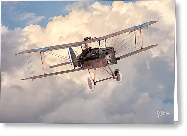Morning Flight - Se5a Greeting Card by David Collins