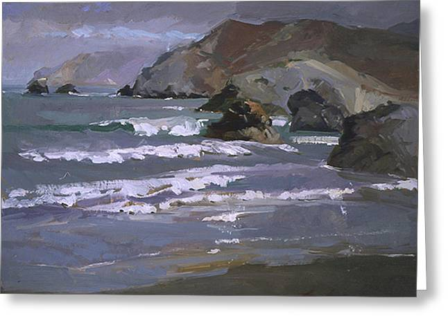 Morning Fog Shark Harbor - Catalina Island Greeting Card