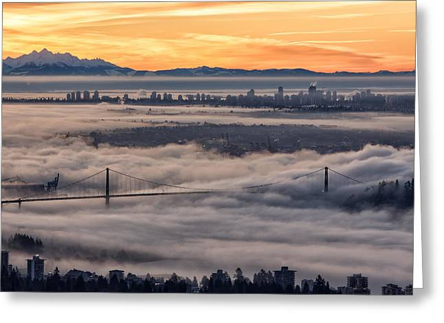 Morning Fog Greeting Card by DGS Full Spectrum Photography