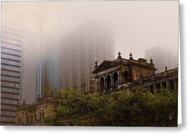 Morning Fog Over The Treasury Greeting Card