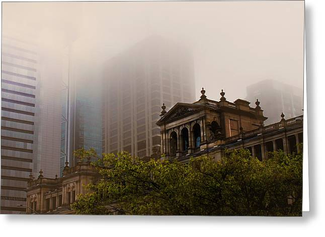 Morning Fog Over The Treasury Greeting Card