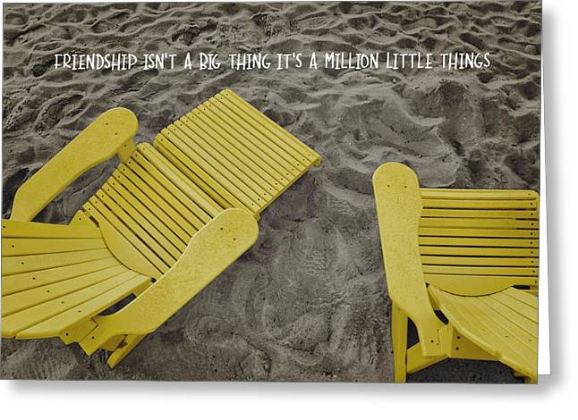 Morning Footsteps Quote Greeting Card by JAMART Photography