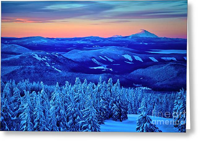 Morning From Timberline Lodge Greeting Card