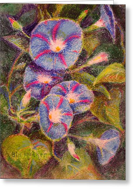 Morning Glories Greeting Card by Bill Meeker