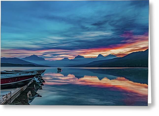 Greeting Card featuring the photograph Morning Glory At Glacier National Park by Lon Dittrick