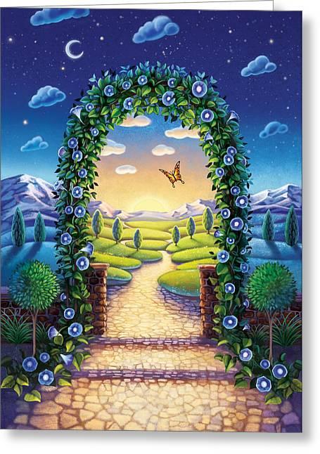 Morning Glory - Awaken To Magic Greeting Card