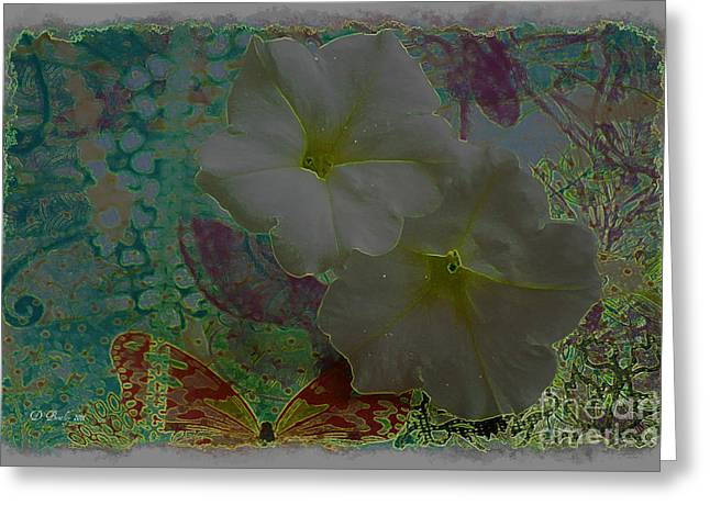 Morning Glory Fantasy Greeting Card