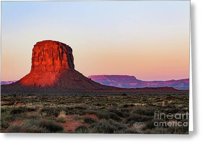 Morning Glory In Monument Valley Greeting Card