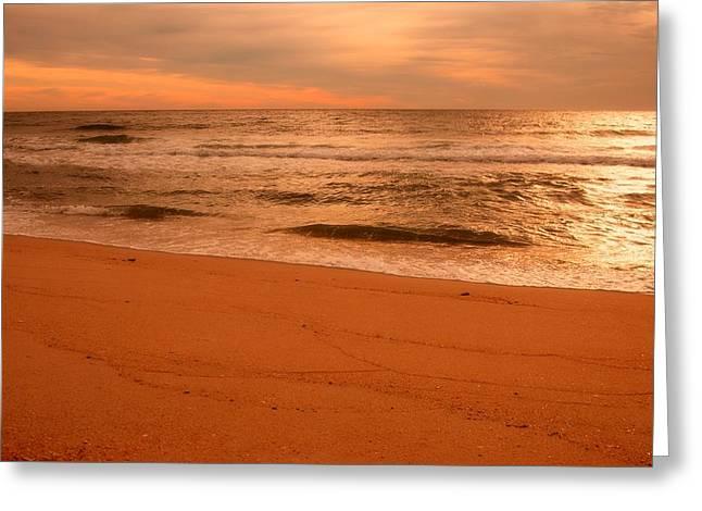 Morning Glow - Jersey Shore Greeting Card by Angie Tirado