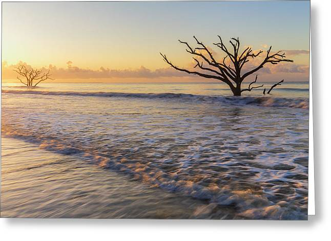 Morning Glow At Botany Bay Beach Greeting Card