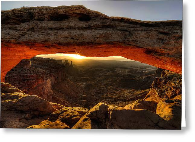 Morning Glow At Mesa Arch Greeting Card
