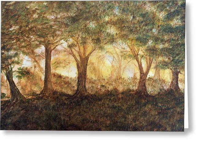 Morning Glow Greeting Card by Jeanette Stewart