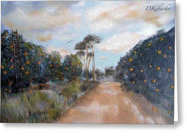 Greeting Card featuring the painting Morning Gold by Dawn Harrell