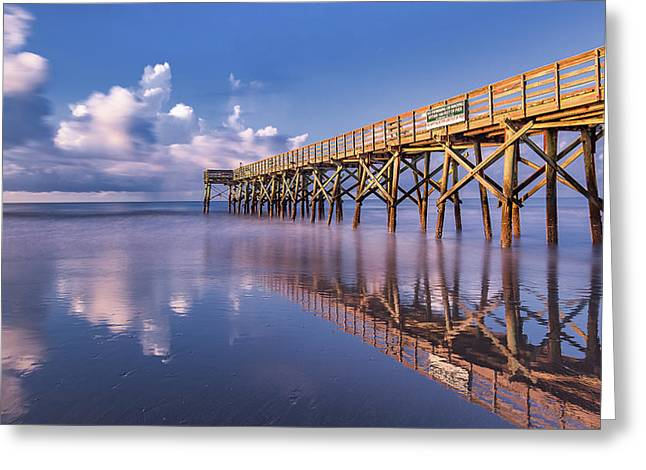 Morning Gold - Isle Of Palms, Sc Greeting Card