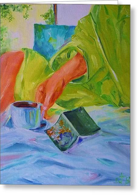 Morning Habit Greeting Card by Irit Bourla