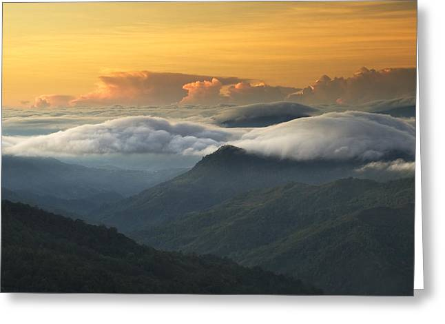 Greeting Card featuring the photograph Morning Has Broken by Ng Hock How