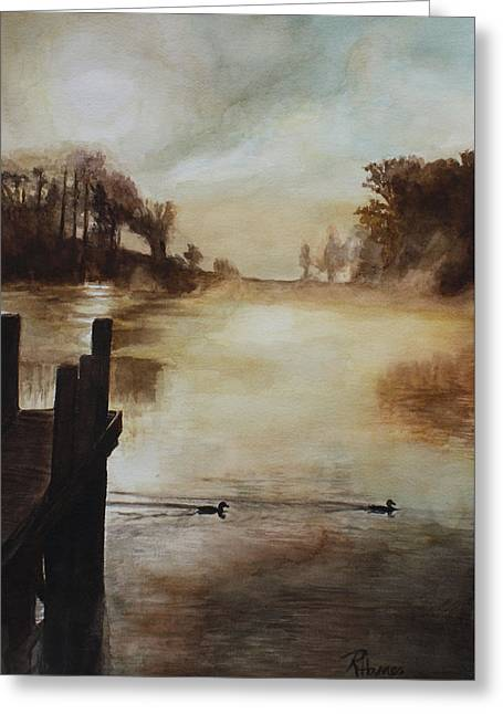 Greeting Card featuring the painting Morning Has Broken by Rachel Hames