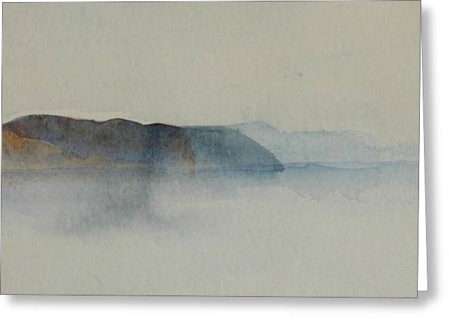 Morning Haze In The Swedish Archipelago On The Westcoast.2 Up To 28 X 28 Greeting Card