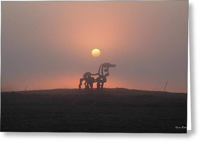Morning Haze Iron Horse Art  Greeting Card