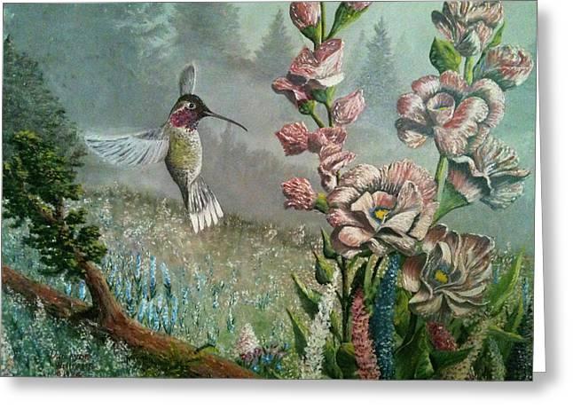 Morning Hummingbird Greeting Card