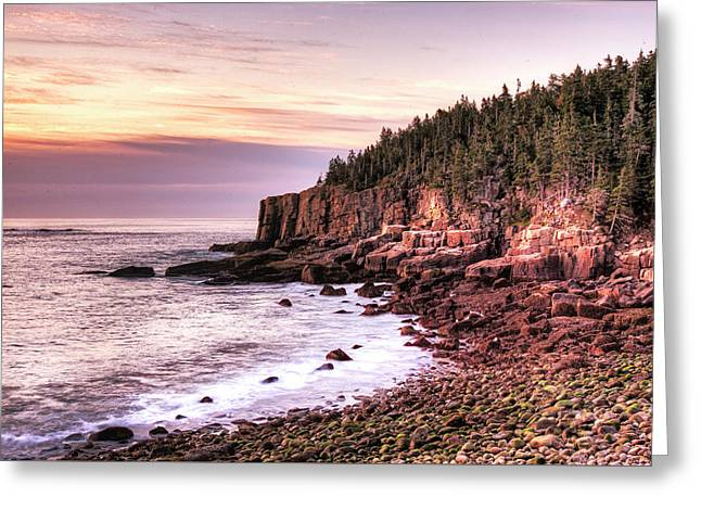 Greeting Card featuring the photograph Morning In Acadia by Joe Paul