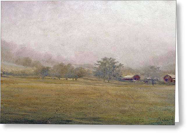 Greeting Card featuring the painting Morning In Georgia by Andrew King
