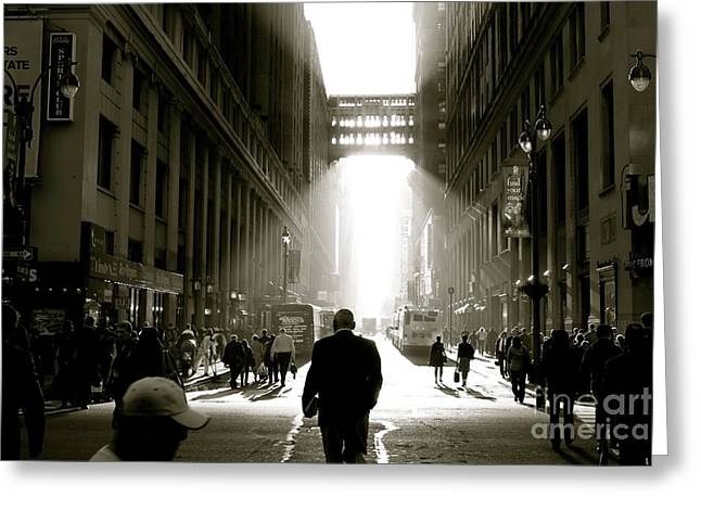 Morning In Manhattan Greeting Card by Jerry Patterson