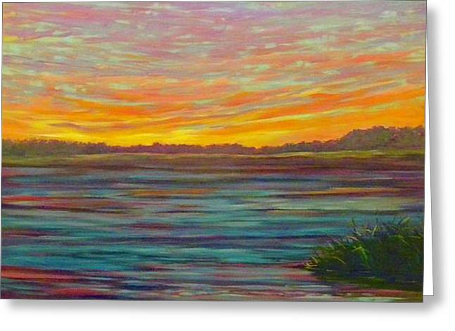 Southern Sunrise Greeting Card by Jeanette Jarmon