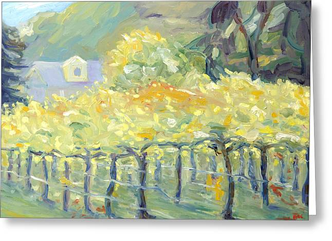Morning In Napa Valley Greeting Card by Barbara Anna Knauf