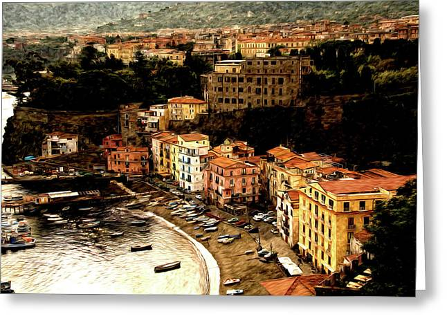 Morning In Sorrento Italy Greeting Card by Xavier Cardell