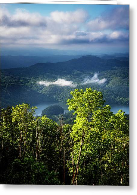 Morning In The Blue Ridge Mountains Greeting Card