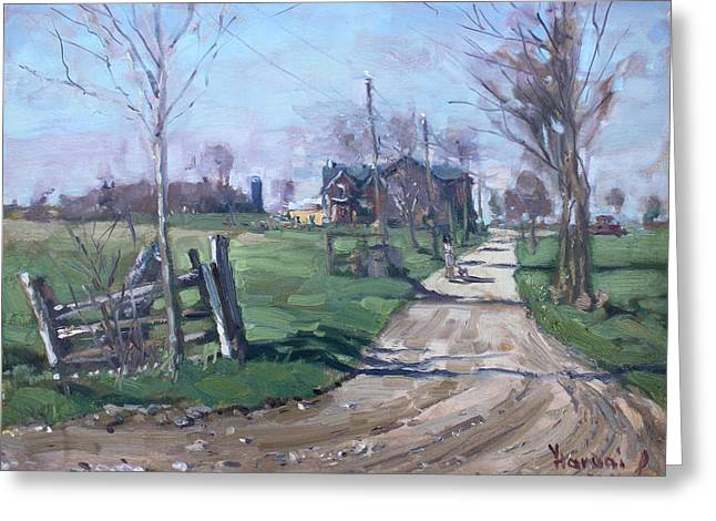Morning In The Farm Georgetown Greeting Card by Ylli Haruni