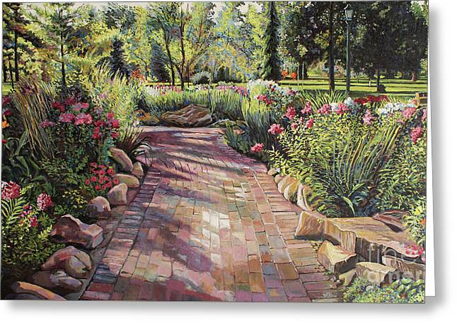 Morning In The Garden Greeting Card