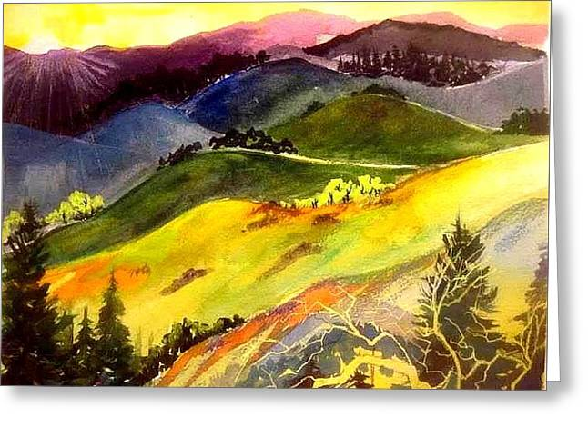 Morning In The Hills Greeting Card