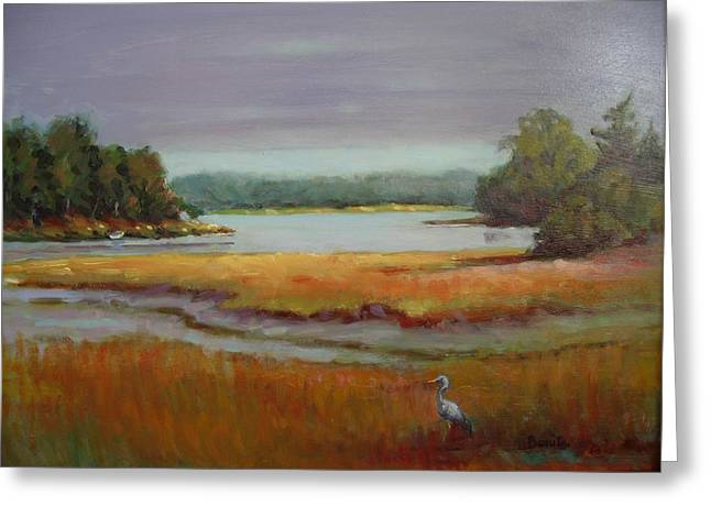 Morning In The Salt Marsh Greeting Card by Bonita Waitl