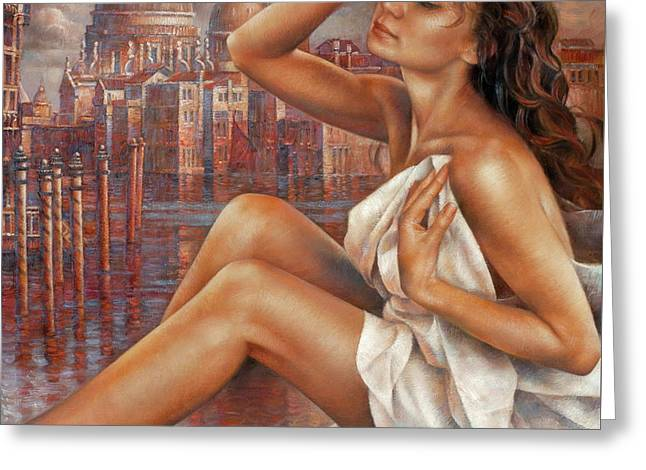 Morning In Venice Greeting Card by Arthur Braginsky