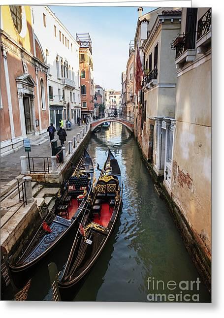 Morning In Venice In Winter Greeting Card