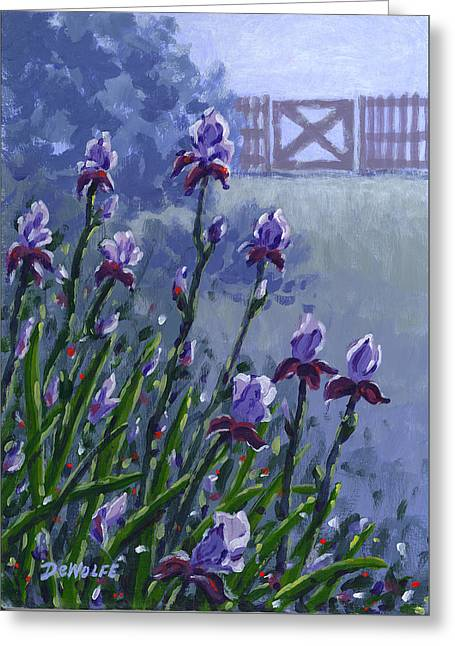 Morning Iris Greeting Card