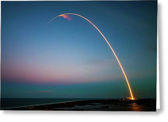 Morning Launch From Cape Canaveral  Greeting Card by Mountain Dreams