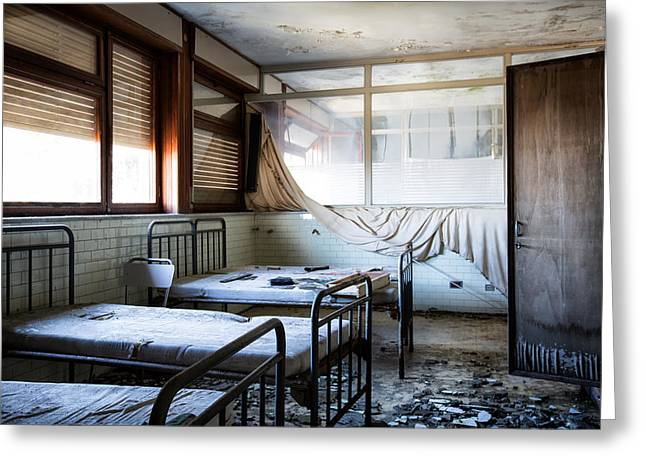 Morning Light After Nightmare - Urban Exploration Greeting Card