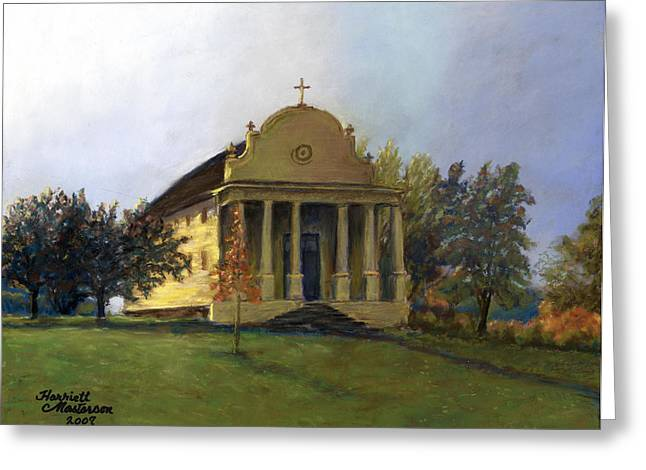 Morning Light At Cataldo Greeting Card by Harriett Masterson