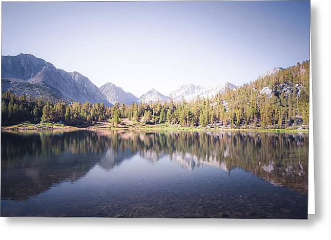 Morning Light At Heart Lake Greeting Card