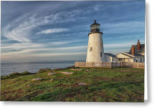 Morning Light At Pemaquid Point Greeting Card