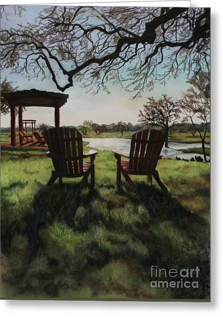 Morning Light At The Vineyard Florence Texas Greeting Card by Kelly Borsheim