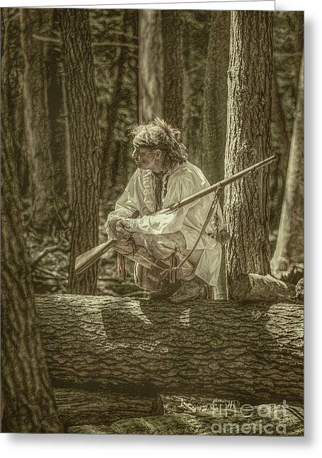 Morning Light Cook Forest Sepia Toned Greeting Card by Randy Steele