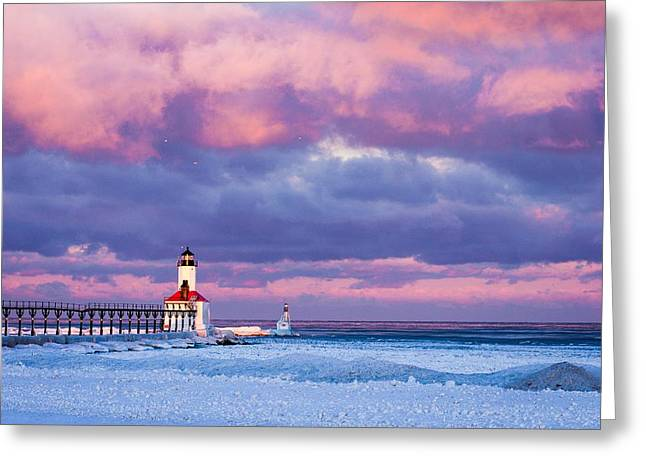 Morning Light In Michigan City Greeting Card by Jackie Novak