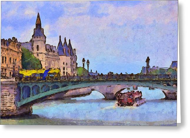 Morning Light In The City Of Light Greeting Card