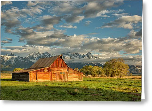 Morning Light On Moulton Barn #2 Greeting Card